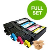 1 Full Set of Xerox 106R01455 Black and 1 x Colour Set 106R01452/3/4C/M/Y (Remanufactured) Toner Car