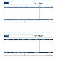 Communisis Sage Compatible Pay Advice Laser or Inkjet 210x102mm (1 x Pack of 500 Forms/1000 Payslips)
