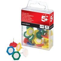 5 Star (20mm) Indicator Pins Head Assorted Pack of 10