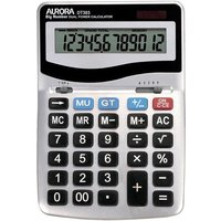Aurora DT303 12 Digit Desktop Calculator with Large Keys