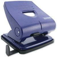 Rapesco 827P ABS-top 2 Hole Punch Blue 30 Sheets