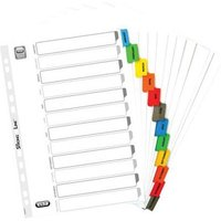 Elba (A4) Mylar Dividers Europunched Jan-Dec Coloured Tabs White (Single)