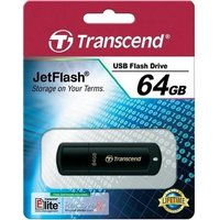 Transcend JetFlash 350 (64GB) USB 2.0 Flash Drive (Black)