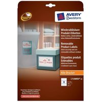 Avery L7108REV-20 Removable Product Labels (62 x 89mm) Rectangular White (Pack of 180 Labels)