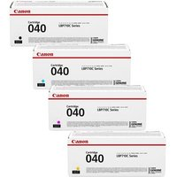 1 Full Set of Canon 040BK and 1 x Colour Set 040C/M/Y (Original) Standard Capacity Toner Cartridges