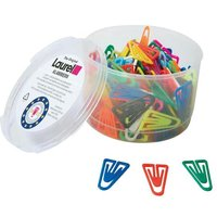 Laurel Plastiklip (25mm) Plastic Non-Magnetising (Assorted) Paper Clips (1 x Pack of 500)
