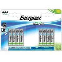 Energizer EcoAdvanced (AAA) Alkaline Batteries (Pack of 8 Batteries)