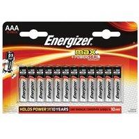 Energizer Max (AAA) Alkaline Batteries (Pack of 12 Batteries)