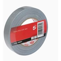 5 Star Office Cloth Tape Roll 25mmx50m Silver