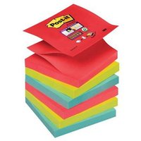 Post-it Super Sticky Z-Notes Bora Bora Collection Pack of 6 Pads