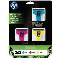 HP 363 Original 3 Pack - Cyan Magenta Yellow Inkjet Cartridge