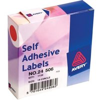 Avery 24-506 Red Coloured Labels in Dispensers [Pack 1120]