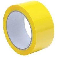 Polypropylene Tape (50mm x 66m) Yellow Pack of 6