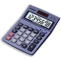 Casio Calculator Euro Desktop Battery Solar-power 8 Digit 3 Key Memory