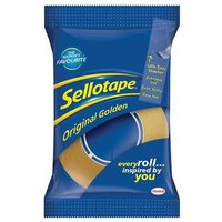 Sellotape Golden Tape Retail 18mm x 25m (Pack of 8)