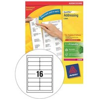 Avery L7162-100 QuickPEEL Addressing Labels (99.1 x 33.9mm) White (Pack of 1600 Labels)