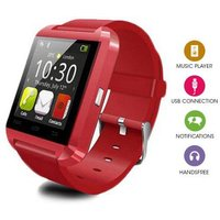Bluetooth Smart Watch With Built In Speaker and Microphone for IOS and Android - Red