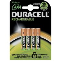 Duracell Stay Charged (AAA) Batteries 1 x Pack of 4