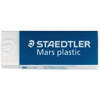Staedtler Mars Plastic Eraser (55mm x 23mm x 12mm) Premium Quality Self-cleaning (1 x Pack of 2)