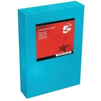 5 Star Office Card Tinted 160gsm A4 Deep Turquoise [Pack 250]