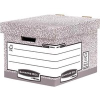 Fellowes Bankers Box (A4/Foolscap) Heavy Duty Standard Storage Box with Lift off Lid (1 x Pack of 10 Storage Boxes)