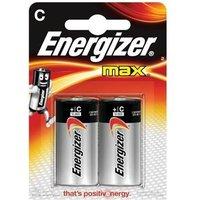 Energizer Max (C) Alkaline Batteries (Pack of 2 Batteries)