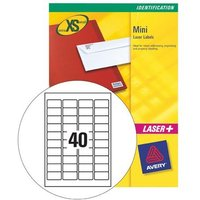 Avery L7654-25 Mini Laser Labels (45.7 x 25.4mm) White (Pack of 1000 Labels)