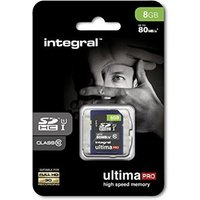 Integral 8GB UltimaPro microSDHC/XC 90MB Class 10 UHS-I U1 with SD Adapter