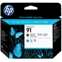 HP 91 Cyan and Matte Black Original Printhead