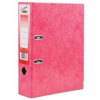 Concord (A4) Contrast Lever Arch File Laminated Capacity 80mm Raspberry [Pack 10]