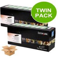 TWINPACK:Lexmark 12A8400 Original Black Return Programme Cartridge