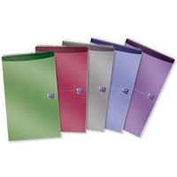 Oxford (125x200 mm) Wirebound Reporters Notebook 140-Pages Ruled Assorted (1 x Pack of 10)