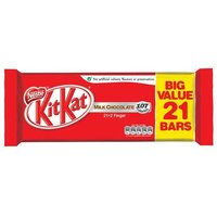 Nestle Kit Kat Chocolate Bars 2 Finger Bars Pack of 21