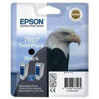 Epson T007 (T007402) Black Original Ink Cartridge Twin Pack (Eagle)