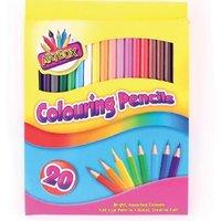 Art Box Colouring Pencil Crayons 20 Pack