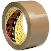 Scotch Low Noise (48mm x 66m) Packaging Tape Buff (1 x Pack of 6)