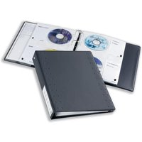 Durable CD and DVD Pocket for Index 40 Ring Binder Capacity 4 Disks A4 (Clear) - 1 x Pack of 5 Pockets