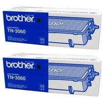 TWINPACK: Brother TN3060 Original Black High Capacity Laser Toner Cartridges