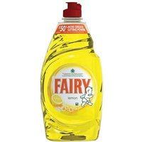Fairy (450ml) Washing Up Liquid (Lemon) - 2 Pack of Washing Up Liquids