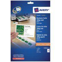 Avery Quick&Clean Single Sided Matt Business Cards (White) Pack of 250 Labels