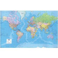 Map Marketing World Map 3D Effect Giant (Unframed) - Scale 312 Miles/1 inch
