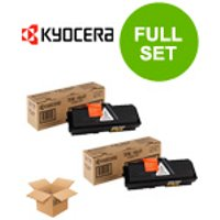 Twin Pack : Kyocera TK-160 Original Black Laser Toner Cartridge