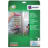 Avery L7083-10 Adhesive Sign Pockets (Pack of 10)