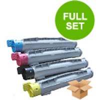 1 Full Set of Epson S050213 Black and 1 x Colour Set S050210/12/C/M/Y (Remanufactured) Toner Cartrid