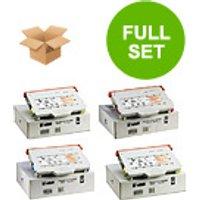 1 Full Set of Ricoh 171-0188-004 Black and 1 x Colour Set 171-0188-001/2/3 (Remanufactured) Toner
