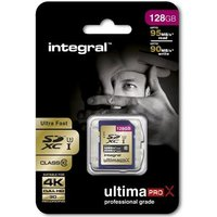 Integral 128GB UltimaPro X SDHC/XC 95/90MB C10 UHS-I U3 Memory Card