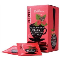 Clipper Organic Infusion Red Fruits and Aronia Berry Fairtrade Teabags (1 Pack of 25 Teabags)