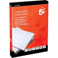 5 Star Copier Paper Multifunctional Ream-Wrapped 80gsm A3 White [500 Sheets]