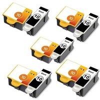 5 x Kodak 8955916 (No.10) Black and 5 x 1967082 (No.10) Colour Compatible Cartridges