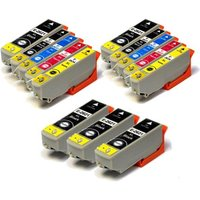 5 x Epson 26XL (T2621) Black + 2 x Epson 26XL Set (T2631/34) Compatible Cartridges